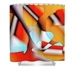 Cutouts Shower Curtain by Ron Bissett