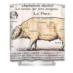 Cuts Of Pork Shower Curtain by French School