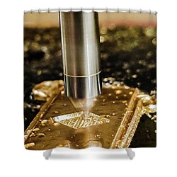 Shower Curtain featuring the photograph Cutting Brass by Bruce Carpenter