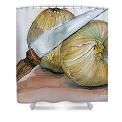 Cutting Onions Shower Curtain