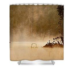 Cutting Through The Mist Shower Curtain