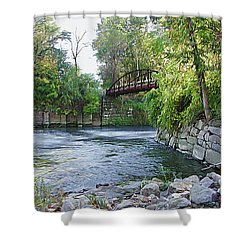 Cuyahoga River At Peninsula Shower Curtain