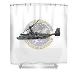 Shower Curtain featuring the digital art Cv-22b Osprey 71sos by Arthur Eggers