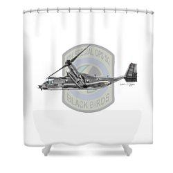 Shower Curtain featuring the digital art Cv-22b Osprey 8sos by Arthur Eggers