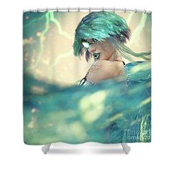 Cyan Shower Curtain