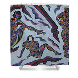 Cyber Gestes  Shower Curtain by Robert SORENSEN