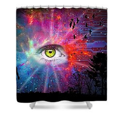 Cyber Sky Shower Curtain