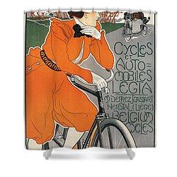 Cycles Et Automobiles Legia Poster 1898 Shower Curtain