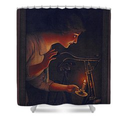 Cycles Fongers Vintage Bicycle Poster Shower Curtain