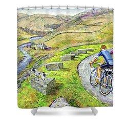 Lancashire Lanes I Shower Curtain