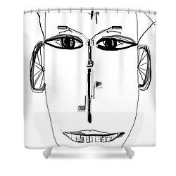 Cyclist Shower Curtain by Sladjana Lazarevic