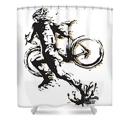 Cyclocross Poster1 Shower Curtain