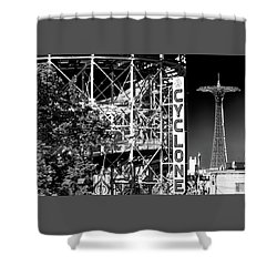 Cyclone At Coney Island Shower Curtain