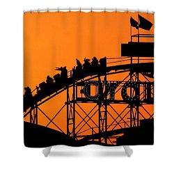 Cyclone Shower Curtain by Mitch Cat