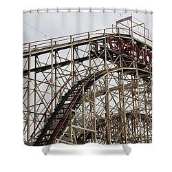 Cyclone Roller Coaster Coney Island Ny Shower Curtain