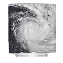 Cyclone Zoe In The South Pacific Ocean Shower Curtain by Stocktrek Images