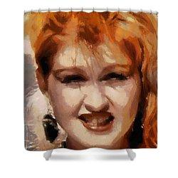 Cyndi Lauper Shower Curtain