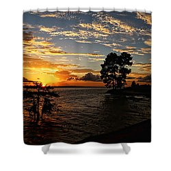 Cypress Bend Resort Sunset Shower Curtain