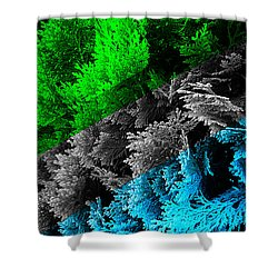 Cypress Branches No.6 Shower Curtain by Cesar Padilla