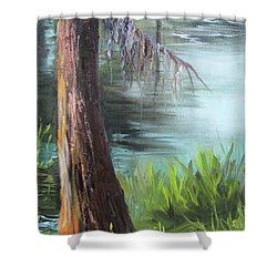 Cypress Up Close Shower Curtain