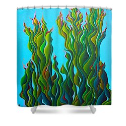 Cypressing A Wave Shower Curtain