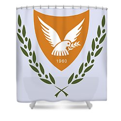 Cyprus Coat Of Arms Shower Curtain by Movie Poster Prints