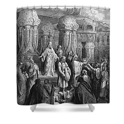 Cyrus Restoring The Vessels Shower Curtain by Photo Researchers