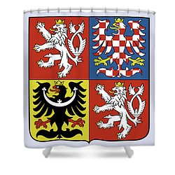 Czech Republic Coat Of Arms Shower Curtain by Movie Poster Prints