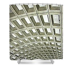 D C Metro 2 Shower Curtain by Randall Weidner
