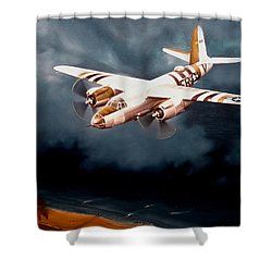 D-day Support Shower Curtain by Marc Stewart