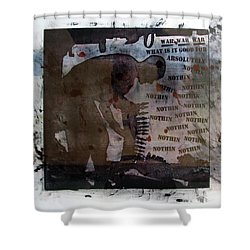D U Rounds Project, Print 1 Shower Curtain
