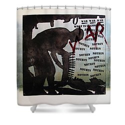 D U Rounds Project, Print 2 Shower Curtain