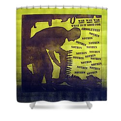 D U Rounds Project, Print 11 Shower Curtain