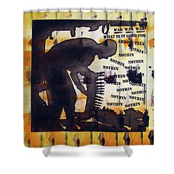 D U Rounds Project, Print 14 Shower Curtain