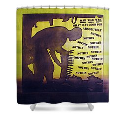 D U Rounds Project, Print 15 Shower Curtain