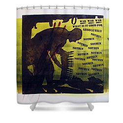 D U Rounds Project, Print 16 Shower Curtain