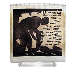 D U Rounds Project, Print 17 Shower Curtain