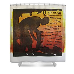 D U Rounds Project, Print 18 Shower Curtain