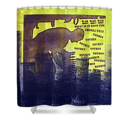 D U Rounds Project, Print 23 Shower Curtain