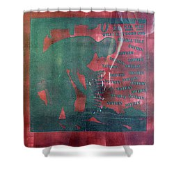 D U Rounds Project, Print 34 Shower Curtain