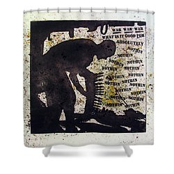 D U Rounds Project, Print 35 Shower Curtain
