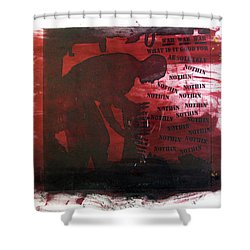 D U Rounds Project, Print 38 Shower Curtain