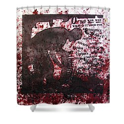 D U Rounds Project, Print 39 Shower Curtain