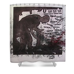 D U Rounds Project, Print 40 Shower Curtain
