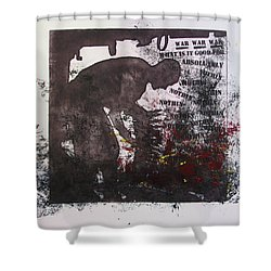 D U Rounds Project, Print 41 Shower Curtain