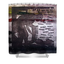 D U Rounds Project, Print 42 Shower Curtain