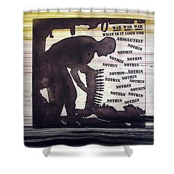 D U Rounds Project, Print 45 Shower Curtain