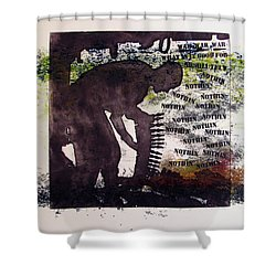 D U Rounds Project, Print 5 Shower Curtain
