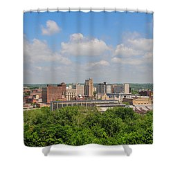 D39u118 Youngstown, Ohio Skyline Photo Shower Curtain