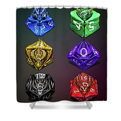 D4-20 Dragon Dice Poster Shower Curtain